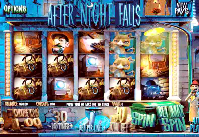 Video slot game After night falls online